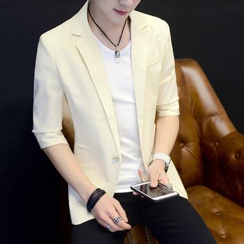 Спортно - елегантно мъжко сако изчистен модел - три цвята