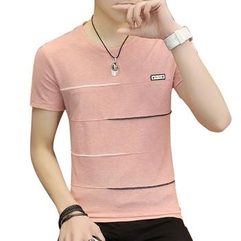 Мъжка тениска с къс ръкав в три модела различни цветове
