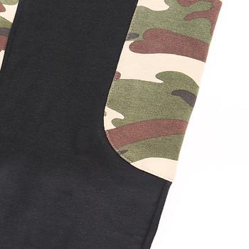 Мъжки анцуг в черен цвят с камуфлажни елементи