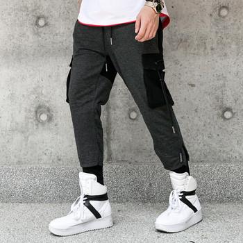 Мъжки анцуг със странични джобове и връзки