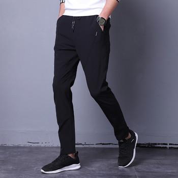 Мъжки стилен панталон с ластична талия подходящ за ежедневие