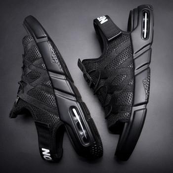 Мъжки сандали в черен цвят в два модела