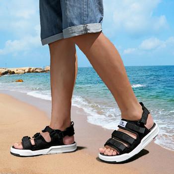Мъжки сандали в три цвята на равна подметка