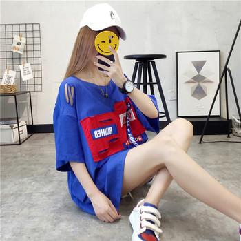 Дамска тениска широк модел в три цвята