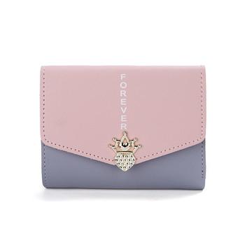 Γυναικείο πορτοφόλι με διακόσμηση σε διαφορετικά χρώματα