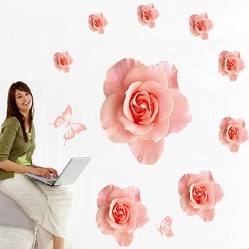 Стенни стикери цветя в различен размер