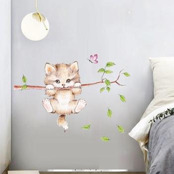 Малък стикер за всякакви повърхности - Коте