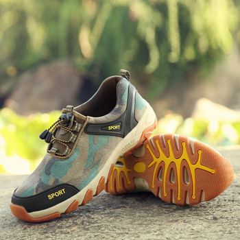 Мъжки спортни обувки с гумени подметка и връзки