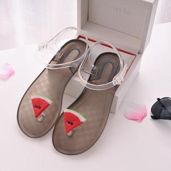 Дамски интересни сандали с 3D декорация в няколко цвята