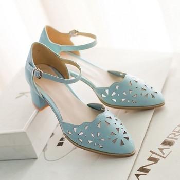 Дамски заострени елегантни сандали в четири цвята