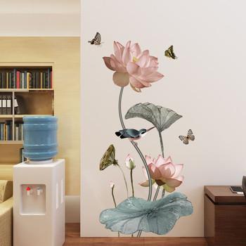 Стенна декорация подходяща за хол, трапезария във флорални елементи