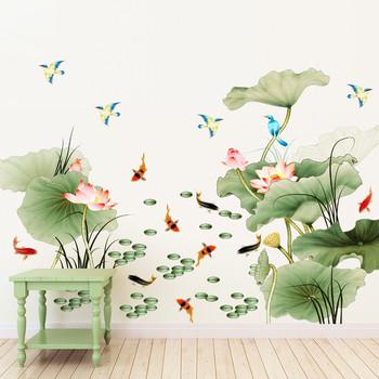 Стикери за стена във флорални елементи в голям размер
