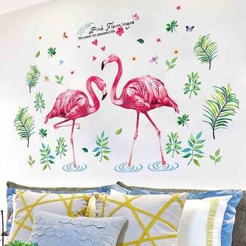 Детски  стикери за стена фламинго