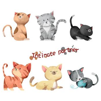 Сладки стикери за стена с котета