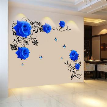 Цветна 3D декорация роза