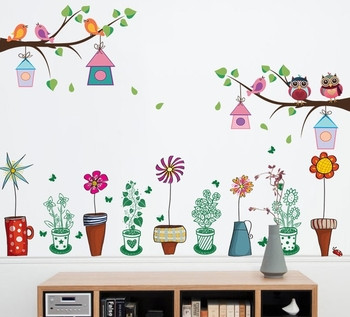 Детски стикери подходящи за всякакви повърхности цветя