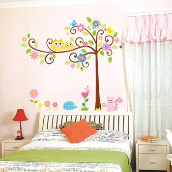 Детски стенни стикери цветно дърво