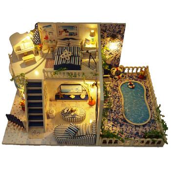 3D пъзел - къща в Санторини
