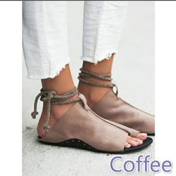 Ежедневни дамски сандали,в римски стил от еко кожа-в три цвята