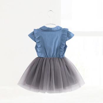 182b6afef01 Παιδικό τζιν φόρεμα με τούλι και βολάν - Badu.gr Ο κόσμος στα χέρια σου