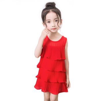 Παιδικό καλοκαιρινό φόρεμα για κορίτσια σε κόκκινο f383c9bd66c