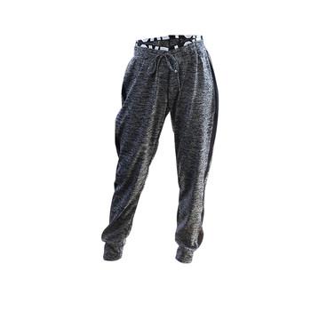 Дамски спортен панталон с широк ластик с надпис и страничен бял кант