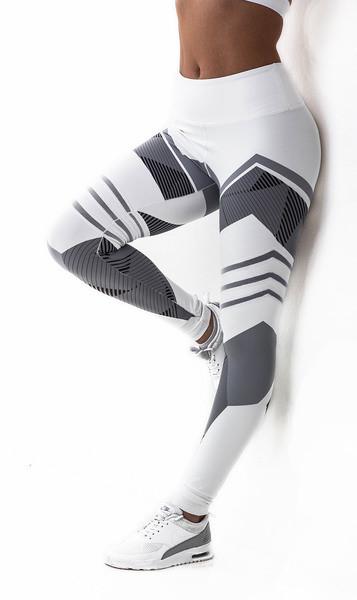 97e9e22d75e badu.gr - Γυναικείο καθημερινό αθλητικό κολάν σε δύο χρώματα με γεωμετρικά  σχήματα