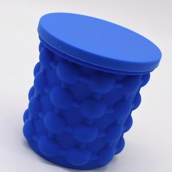 Силиконова ледарка с двойно камерна конструкция съдържаща до 120 кубчета лед