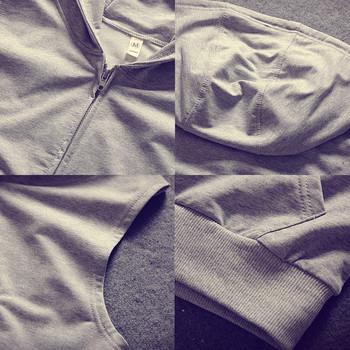 Мъжка спортна жилетка без ръкави с качулка