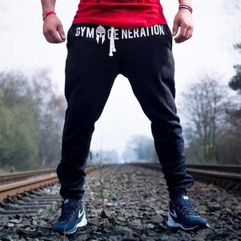 Летни спортни мъжки панталони с надписи