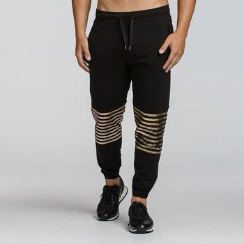 ХИТ Мъжки спортен панталон със златни елементи