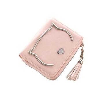 Γυναικέιο  πορτοφόλι με φούντα και μεταλλικά στοιχεία σε διάφορα χρώματα