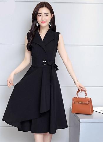 ХИТ Стилна дамска рокля с V-образно деколте в няколко цвята