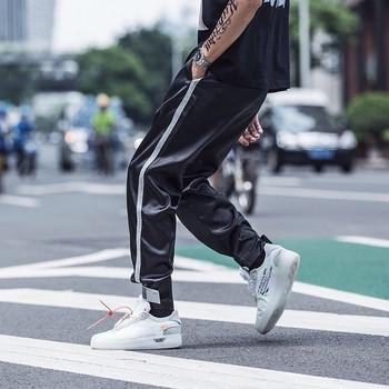 Мъжки модерни панталони в два цвята с велкро лепенки на глезена