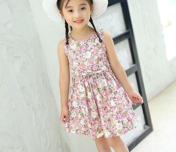 bd8e50f9c0a2 Παιδικό βαμβακερό φόρεμα με φυτικά μοτίβα σε δύο χρώματα - Badu.gr Ο ...