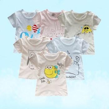 Детска ежедневна тениска за момичета и момчета с щампа