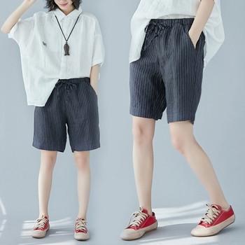 МАКСИ размер ежедневни 3/4 дамски панталони на райе