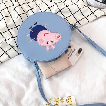 Малка чанта с щампа и дълги дръжки подходяща за момичета
