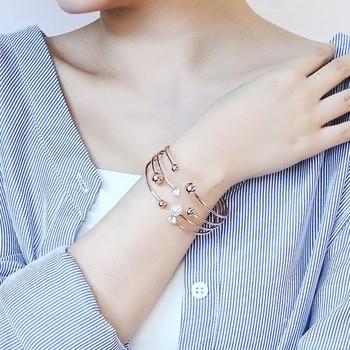 Дамска гривна с декоративни перли