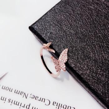 Дамски пръстен с декоративни камъни - Пеперуда