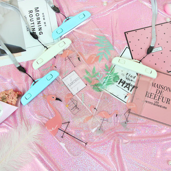 Водоустойчива чантичка за съхранение на телефон с апликация фламинго