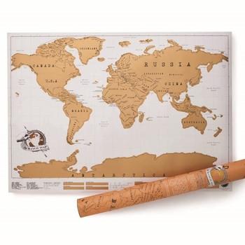 Скреч карта на Света за изтриване