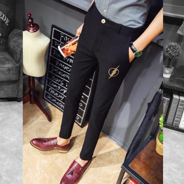 708c1313b1cd Κομψά μαύρα παντελόνια ανδρών με κεντήματα - Badu.gr Ο κόσμος στα χέρια σου