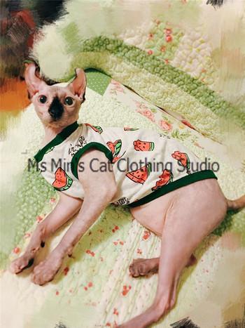 Интересна дреха за котки с цветна апликация