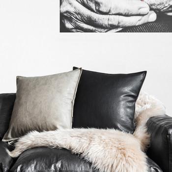 Калъфка за малка възглавница в няколко цвята от еко кожа