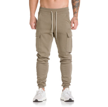 Мъжки спортни панталони със странични джобове в три цвята
