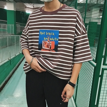 d3776573e42c Τριαντάφυλλο ανδρικό T-shirt με εκτύπωση τριών χρωμάτων - Badu.gr Ο ...