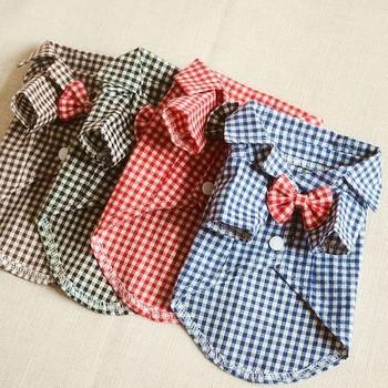 Стилна риза за домашни любимци в четири цвята
