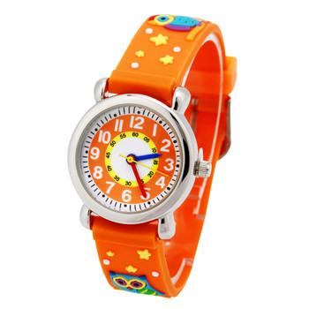 Детски часовник в оранжев цвят подходящ за момичета и момчета