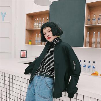 Тънко дамско яке за есента широк модел - три цвята